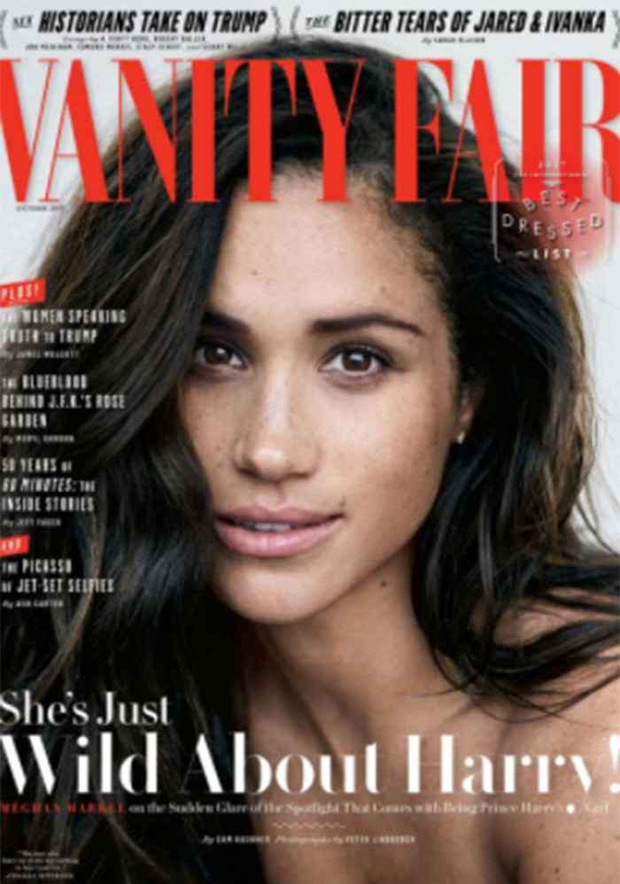 Meghan Markle showing off her freckles