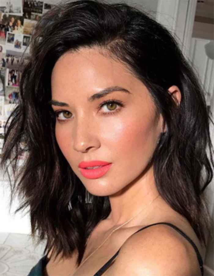 Olivia Munn showing off her freckles