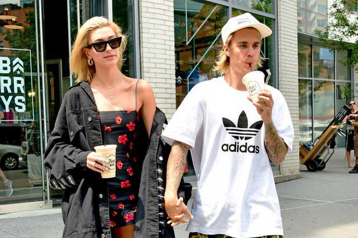 Hailey Baldwin and Justin Bieber leave Barry's Bootcamp Tribeca