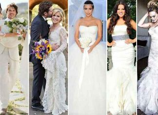 Celebrities Most Stunning Wedding Dresses