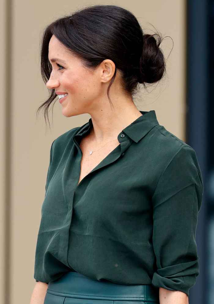Meghan possibly wears low buns to prevent hair dents