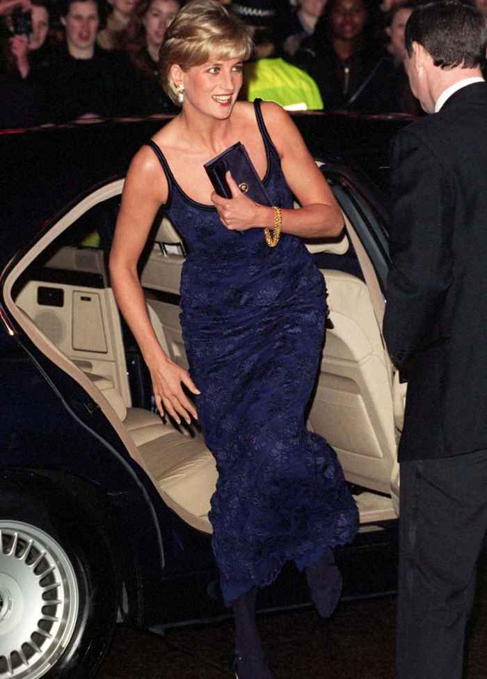Princess Diana used clutches to hide her cleavage