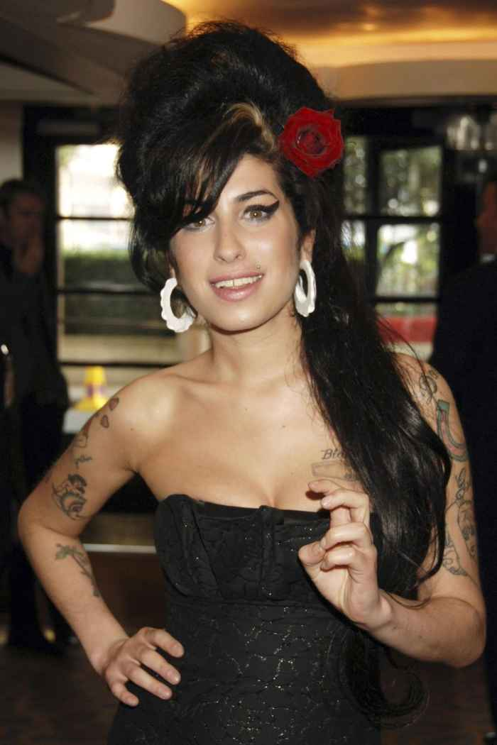 Amy Winehouse Beehive Updo