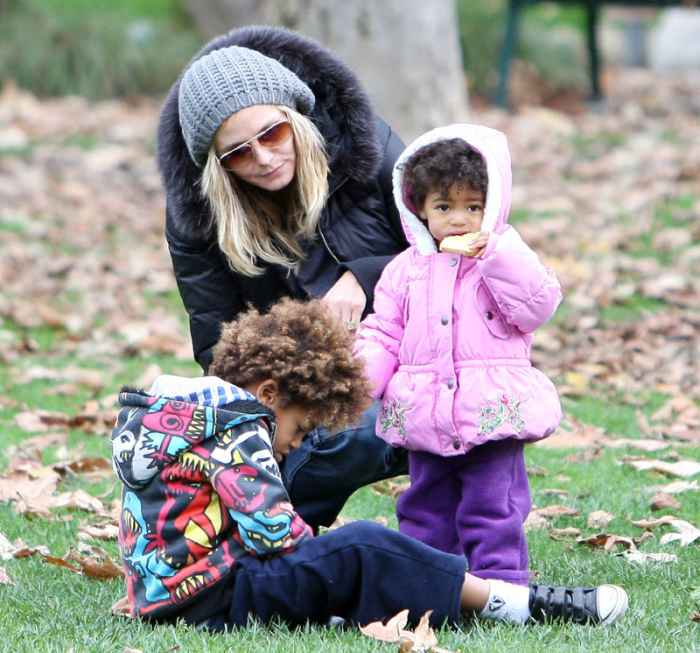 VS Model Heidi Klum with kids