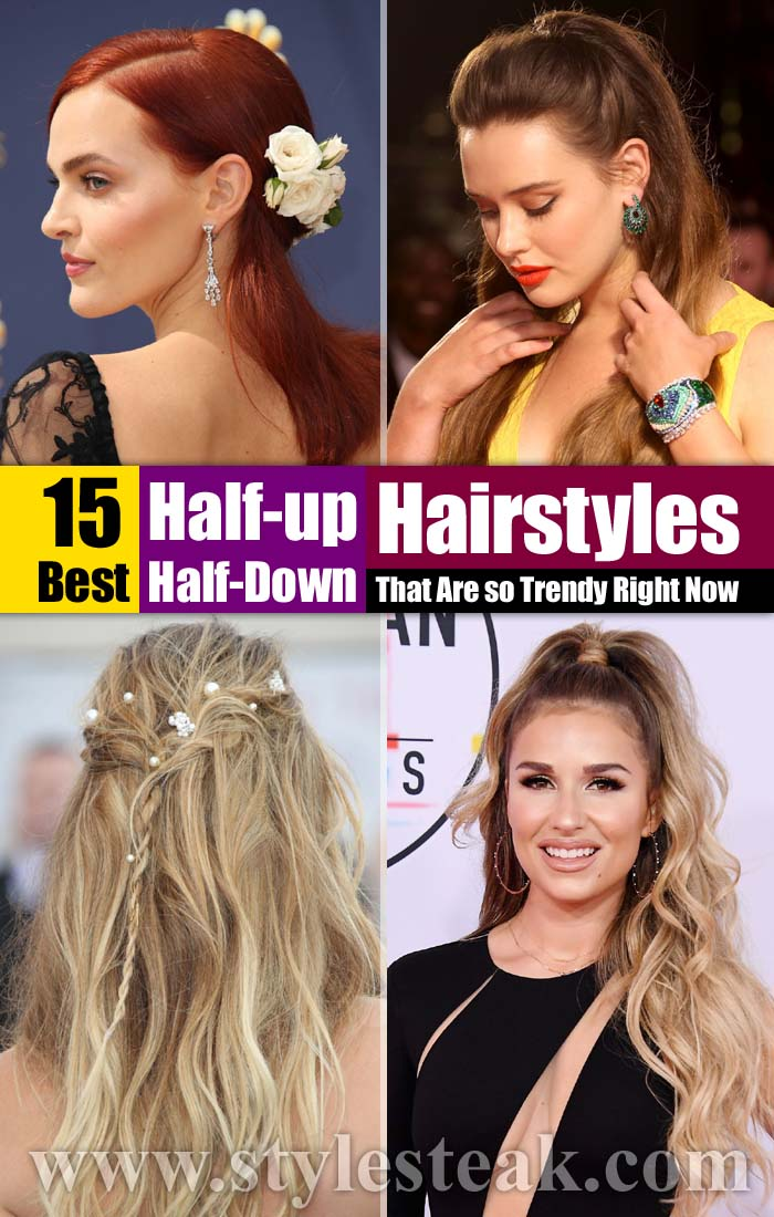 15 Best Half-up, Half-Down Hairstyles That Are so Trendy Right Now