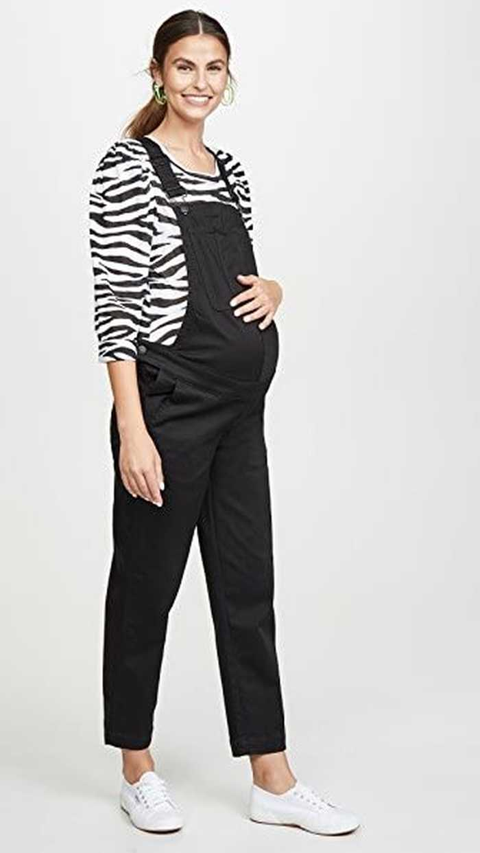Maternity Straight Leg Overalls Pregnancy Outfits
